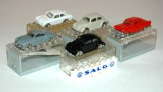 Five Plastic Lego System Cars…