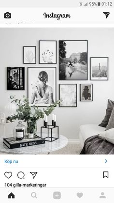Lovin' this arrangement … mixed sizes are brought together with the use of the same frame and all B&W images. Lovin' this arrangement … mixed sizes are brought together with the use of the same frame and all B&W images. Home Living Room, Interior Design Living Room, Living Room Decor, Bedroom Decor, Picture Wall Living Room, Living Room Gallery Wall, Pictures On Wall Living Room, Family Wall Photos, Living Room Wall Ideas