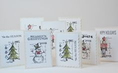 Holiday Cards With Tim Holtz Stamps 2012