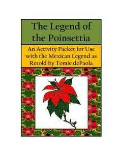 LANGUAGE ARTS: Poinsettia - Legend of the Poinsettia Activity Packet