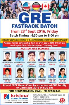 Complete GRE in Fastrack mode.