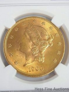 1900 $20 NGC UNC Double Eagle Liberty Gold Coin