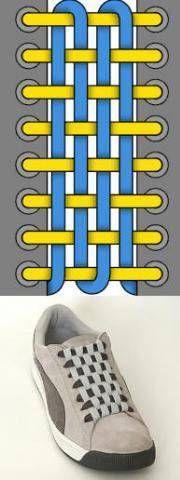 Шнуровка без начала и конца: полотно из шнурков