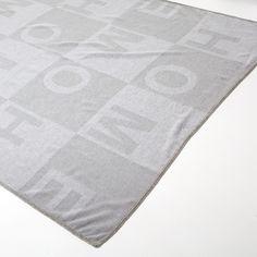 JACQUARD LETTERS WOOL BLANKET - Blankets - Bedroom | Zara Home United Kingdom