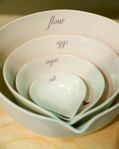 #baking #tools perfect size mixing bowls with a spout to help pour/combine www.AllThingsBaking.org
