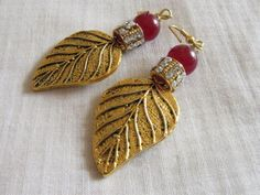 Antique Finish Earrings with Stone studded by Chitrasjewelart, $19.00