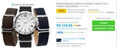 [SUBMARINO] Relógio Masculino Technos Troca Pulseira 2035LWA/0B R$ 123 CC