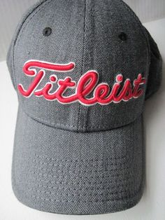 TITLEIST Men s Two Tone Twill Golf Hat Cap Charcoal Gray  amp  Red New   Titleist 6b5c65dc4757