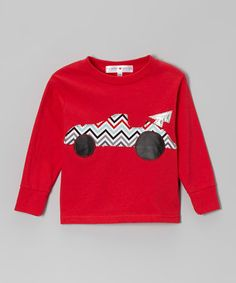 Look what I found on #zulily! Red Chevron Racecar Tee - Toddler & Boys #zulilyfinds