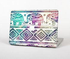The Tie-Dyed Aztec Elephant Pattern Skin for the Apple MacBook Air-Pro or Pro with Retina Display (Choose Version)