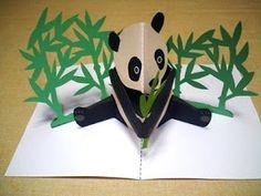 Panda pop up card 3d Cards, Pop Up Cards, Cuento Pop Up, Pop Pup, Arte Pop Up, Pop Up Karten, Tarjetas Diy, Diy And Crafts, Paper Crafts