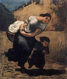 Load by Honoré Daumier, 1853. Oil on cardboard.