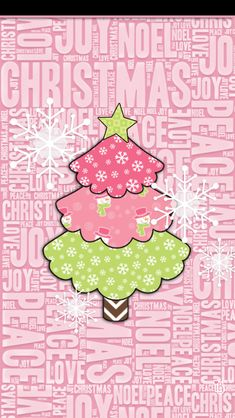 Pink and Green Christmas Tree iphone wallpaper - BabyGirl: Merry Christmas Wallpaper Iphone Disney, Cellphone Wallpaper, Pink Wallpaper, Wallpaper Backgrounds, Heart Wallpaper, Christmas Paper, Christmas Love, Christmas Pictures, Merry Christmas