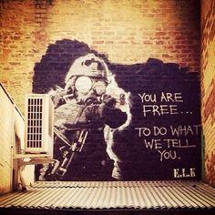 """""""Tu es libre de faire ce qu'on te dit de faire"""" par E.L.K. à Melbourne, Australie"""