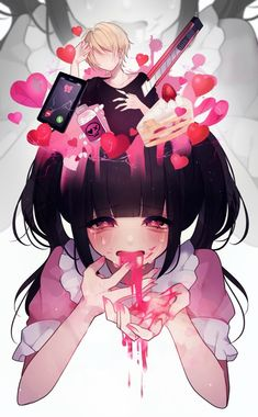 Kawaii Faces, Kawaii Art, Kawaii Anime Girl, Pretty Art, Cute Art, Yandere, Anime Chibi, Anime Art, Gothic Anime Girl