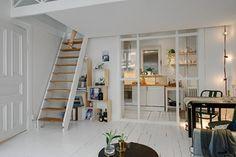 décoration petits espaces et studio sur deux niveaux