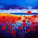 Jean Feeney, oil on canvas, 100 x 100 cm, £2200. #11119 Under Consideration