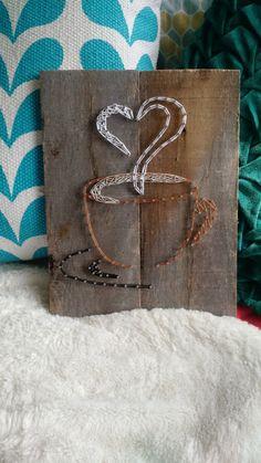 Coffee love string art by MandasPandemonium on Etsy
