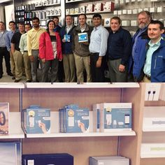 Our #Caseta Wireless product and development team happy to see it on the shelves at the #Apple Store #bigday #lutron #homekit #smarthome #tech