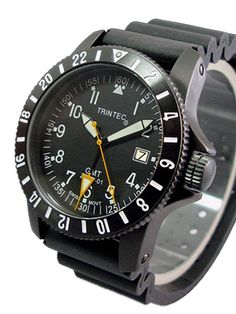Trintec Zulu-01B Quartz GMT Watch