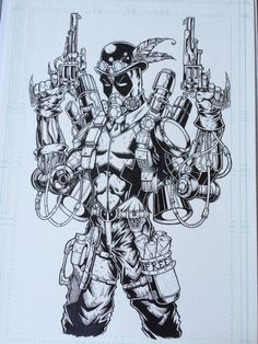 #Deadpool #Fan #Art. (Deadpool -Steam King-) By: Free Isabelo & Rebecca Mataya. ÅWESOMENESS!!!™ ÅÅÅ+