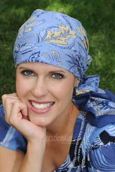 cotton square head scarves for cancer patients