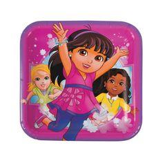 Dora & Friends Square Dinner Plates