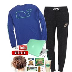 Sweatpants tag #cholesolms by annagabriel on Polyvore featuring polyvore fashion style Vineyard Vines NIKE Insten