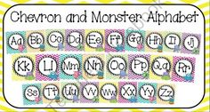 Monster Alphabet from Kreating for Kids on TeachersNotebook.com (14 pages)