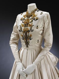 Evening dress and petticoat   Jacques Fath   V&A Search the Collections
