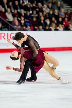 PYEONGCHANG 2018   Tessa Virtue and Scott Moir of Canada. Gold medalists in Ice Dancing