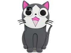 Cute 3D Cartoon Cat Animal Silicone Case Cover for iPhone 4 4S Grey by Vococal, http://www.amazon.com/dp/B00B99UFN8/ref=cm_sw_r_pi_dp_01UKrb0H4SRGV