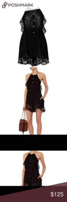Zimmermann Eden Black Ruffle Romper Gorgeous romper with amazing detail. NWT - Size 2 in Australia, Size 4 in US. Is missing two buttons, easy fix! Zimmermann Dresses