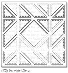 My Favorite Things - Die-namics - Diagonal Quilt Square Cover-Up