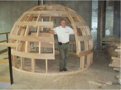 Curved By Design, Inc. is based in British Columbia, Canada and they design and build small garden or backyard domes, cottages and guest houses.