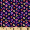 Cotton Lycra Jersey Knit Floral Purple