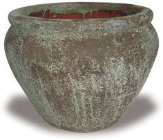 Ocean Rock Planter with Rolled Rim