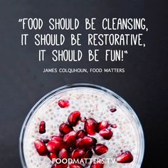 Because, why shouldn't we enjoy it? www.foodmatters.com #foodmatters #FMquotes #foodforthought