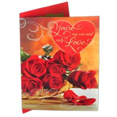 Big Valentine Day Card For Your Love YOU'RE MY ONE AND ONLY LOVE…I never thought I could love anyone as much as I love you..I Love everything about you.. Rs. 350 : Shop Now : http://hallmarkcards.co.in/collections/valentines-cards/products/valentine-day-card-india