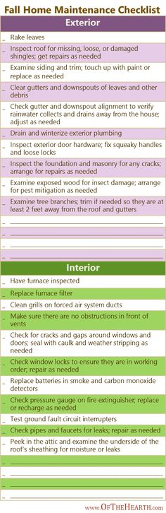 Fall Home Maintenance  |  Routine home maintenance requires a little effort and money today, but it prevents a lot of inconvenience and expense tomorrow. Here's a checklist of fall home maintenance tasks.