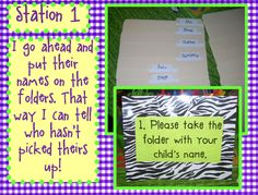 Meet the Teacher ideas - awesome tips... I am so going to do something like this for this year! Can adapt this to sixth grade easily!  Love the idea of stations on parent night - That way teacher is out of the spotlight