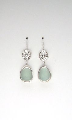 Sea Glass Jewelry  Sterling Aqua Sea Glass by SignetureLine
