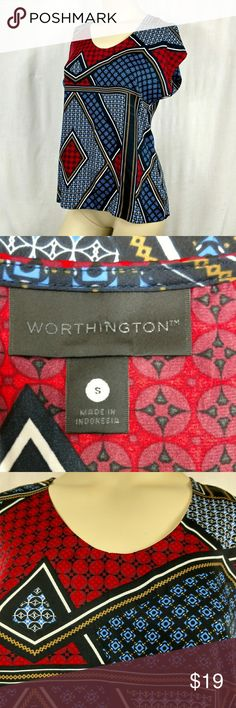 Worthington new top. Small New without tags. Short sleeve. Small (B) Worthington Tops Blouses