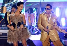 Rihanna and Morris Day of the Time perform at the 50th Annual GRAMMY Awards held at Staples Center on Feb. 10, 2008