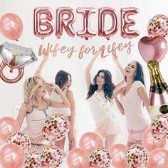 Bachelorette Party Supplies, Bachelorette Party Decorations, Bachelorette Ideas, Bride To Be Balloons, Hen Party Decorations, Rose Gold Ribbon, Bride Shower, Bride To Be Sash, 1 Rose