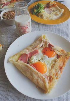 Французский завтрак. Блины-галеты   Про рецептики - лучшие кулинарные рецепты для Вас!