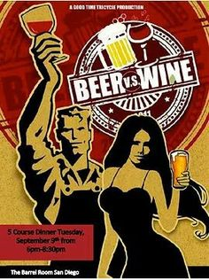 I had a dream I was in a battle with a beer and then I realized it was true!!! I challenge you to a duel!  Tuesday, September 9th: 5 Course tasting with wine and beer pairings.  Don't miss out ;)