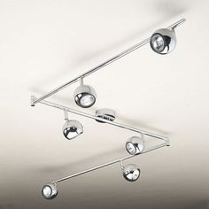 Modern Silver Chrome Way Retro Kitchen Ceiling Light Spotlight - Chrome kitchen ceiling lights
