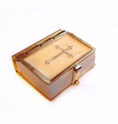 Vintage Miniature Mini Brass Bible Book
