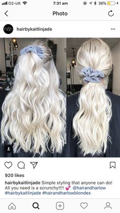 Uhhhhh and a curling iron, blow dryer, hairspray, texturing spray, precessional … - Platinum Blonde Hair Platinum Blonde Hair Color, Blonde Hair Looks, Brown Blonde Hair, Platinum Blonde Hairstyles, Platnium Blonde Hair, Bleach Blonde Hair, Blonde Grise, Ombre Hair, Balayage Hair